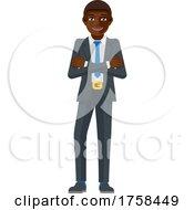 Poster, Art Print Of Black Business Man Mascot Concept