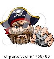 Pirate Ice Hockey Sports Mascot Cartoon