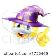 Poster, Art Print Of Wizard Emoticon Face Emoji Cartoon Icon