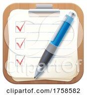 3d Check List Icon
