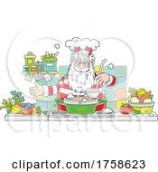 Santa Cooking Soup
