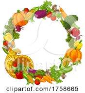 Cornucopia Gold Horn Of Plenty Vegetables Frame