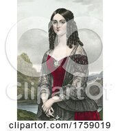 Portrait Of A Beautiful Young Lady