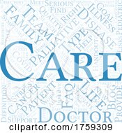 Blue Palliative Cancer Care Word Collage