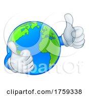 Earth Globe World Mascot Cartoon Character