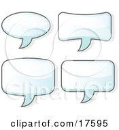 Set Of Four Word Balloons