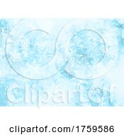 Poster, Art Print Of Watercolour Christmas Snowflake Background