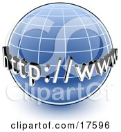 Clipart Illustration Of A Blue Globe With A Graph And URL For The World Wide Web by Leo Blanchette #COLLC17596-0020