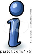 Clipart Illustration Of A Blue Lowercase I Meaning Information
