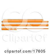 Clipart Illustration Of Orange Category Tabs Forward And Back Buttons For Web Design by Leo Blanchette