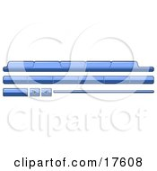 Clipart Illustration Of Blue Category Tabs Forward And Back Buttons For Web Design