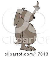Frustrated Dog Flipping Off His Owner After Not Getting His Daily Walk Clipart Illustration by djart