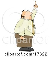 Mad Middle Aged Caucasian Business Man Holding His Hand Up In The Air And Flipping Someone Off Clipart Illustration by djart