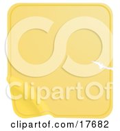 Clipart Illustration Of A Blank Yellow Label Sticker With A Scratch Peeling From The Bottom Corner by AtStockIllustration