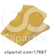 Clipart Illustration Of A Blank Yellow Sales Tag With Wrinkles And A Punch Hole