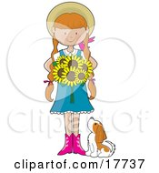 Sunflower Girl by Maria Bell
