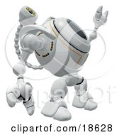 Clipart Illustration Of A Robotic Cam Pointing And Looking Upwards Detecting Spyware