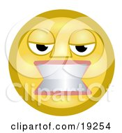 Clipart Illustration Of A Flustered Yellow Smiley Face Woman Gritting Her Teeth In Anger