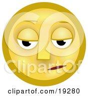 Gloomy Yellow Smiley Face Pouting