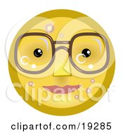 Four Eyed Yellow Smiley Face Wearing Glasses