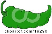 Clipart Illustration Of A Hot And Spicy Mexican Green Chili Pepper