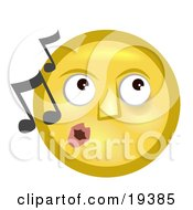 Melodious Yellow Smiley Face Whistling Tunes