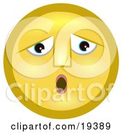 Clipart Illustration Of A Sad Let Down Yellow Smiley Face