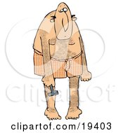 Clipart Illustration Of A Metrosexual White Man Wearing Heart Patterned Boxers Bending Over And Shaving His Legs So They Are Smooth