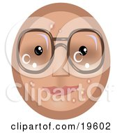 Four Eyed Emoticon Face Wearing Glasses