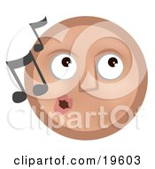 Melodious Tan Smiley Face Whistling Tunes