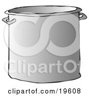Clipart Illustration Of An Aluminum Stockpot In A Kitchen