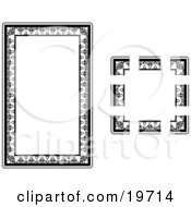 Clipart Illustration Of A Stationery Border With Intricate Designs by AtStockIllustration