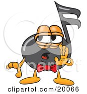 Clipart Picture Of A Music Note Mascot Cartoon Character Whispering And Gossiping