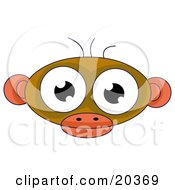 Cute Alien Face Resembling A Monkey With Big Eyes Ears And Three Hairs On Top Of Its Head by Tonis Pan