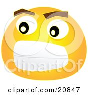 Royalty Free ClipArt Graphic Of A Frustrated Smiley Emoticon Face