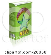 Clipart Illustration Of A Green Product Box With A Star And Amazing Stuff Text On The Front