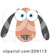 Royalty Free RF Clipart Illustration Of A Big Eyed Dog Face by Qiun