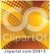 Clipart Illustration Of An Abstract Site Background Of Orange Yellow Circles Or Christmas Baubles