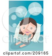 Royalty Free RF Clipart Illustration Of A Little Girl Listening To Music And Reading by mayawizard101