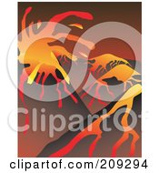 Royalty Free RF Clipart Illustration Of A Volcanic Landscape