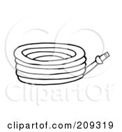 Royalty Free RF Clipart Illustration Of An Outlined Garden Hose