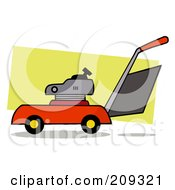 Royalty Free RF Clipart Illustration Of A Lawn Mower