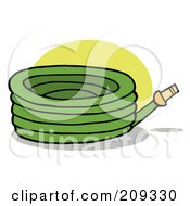 Green Garden Watering Hose