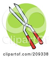 Royalty Free RF Clipart Illustration Of A Pair Of Gardeners Pruners