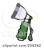 Royalty Free RF Clipart Illustration Of A Hand Held Hose Spray Nozzle by Hit Toon