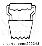 Royalty Free RF Clipart Illustration Of An Outlined Bulb Transplanter Garden Tool