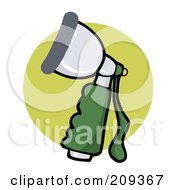 Royalty Free RF Clipart Illustration Of A Hose Spray Nozzle