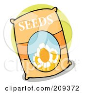 Royalty Free RF Clipart Illustration Of A Packet Of Flower Seeds