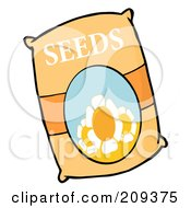Royalty Free RF Clipart Illustration Of A Bag Of Flower Seeds