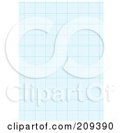 Royalty Free RF Clipart Illustration Of A Sheet Of Blue Graph Paper